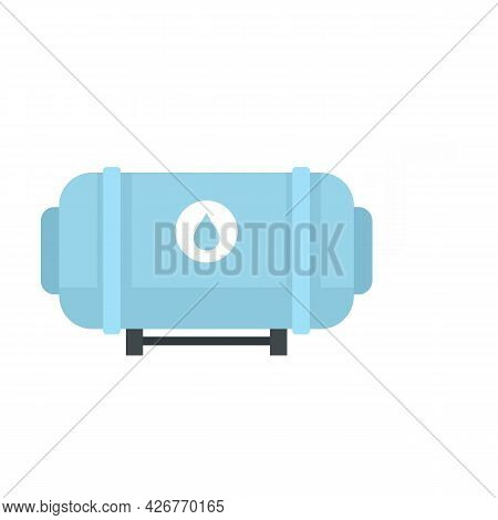 Full Milk Tank Icon. Flat Illustration Of Full Milk Tank Vector Icon Isolated On White Background