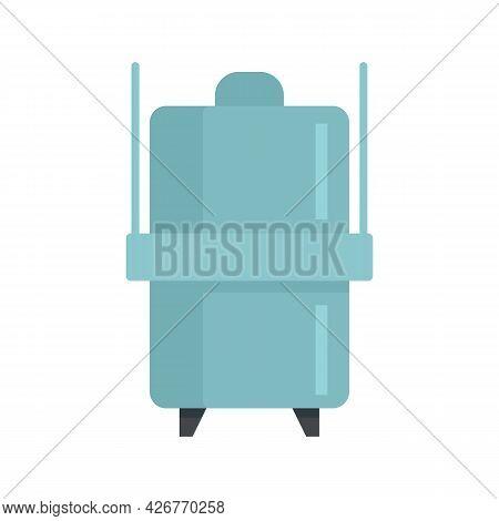 Milk Factory Steel Tank Icon. Flat Illustration Of Milk Factory Steel Tank Vector Icon Isolated On W
