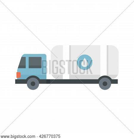 Milk Truck Tank Icon. Flat Illustration Of Milk Truck Tank Vector Icon Isolated On White Background