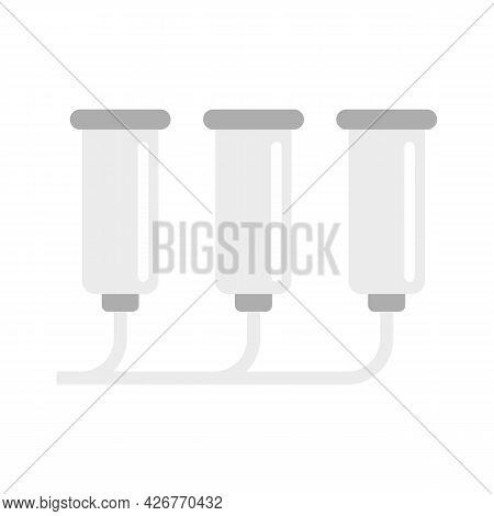 Milk Assembly Line Icon. Flat Illustration Of Milk Assembly Line Vector Icon Isolated On White Backg