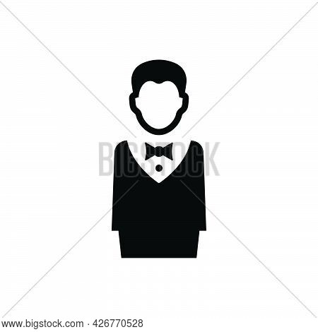 Restaurant Waiter Icon. Meticulously Designed Vector Eps File.