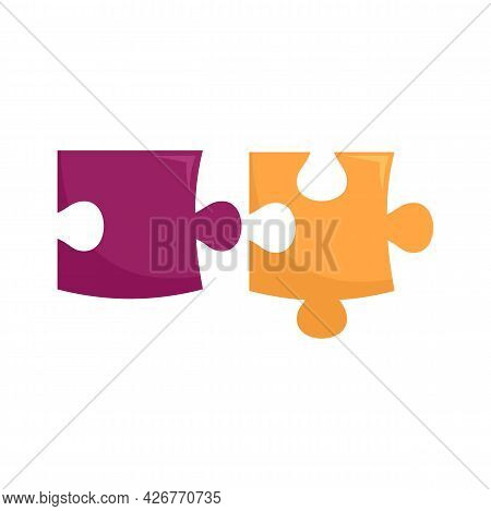 Graphic Puzzle Icon. Flat Illustration Of Graphic Puzzle Vector Icon Isolated On White Background