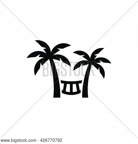 Beach Hammock Icon. Meticulously Designed Vector Eps File.