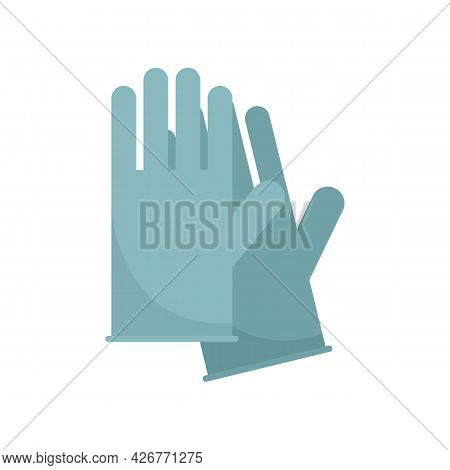 Medical Gloves Icon. Flat Illustration Of Medical Gloves Vector Icon Isolated On White Background