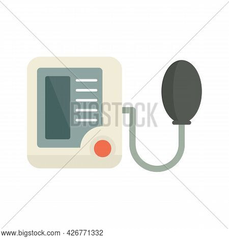 Pulse Measurement Device Icon. Flat Illustration Of Pulse Measurement Device Vector Icon Isolated On