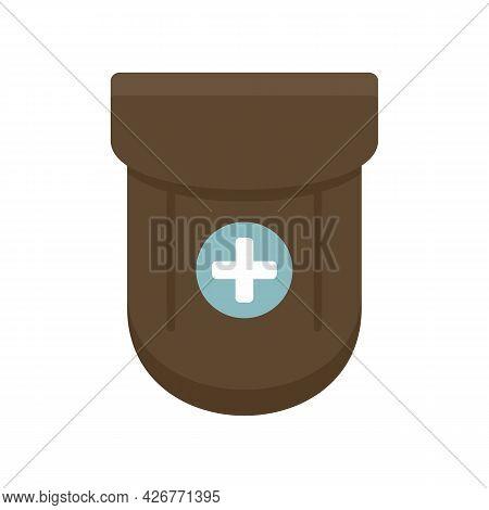 Medical Pocket Icon. Flat Illustration Of Medical Pocket Vector Icon Isolated On White Background