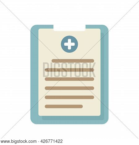 Medical Cardboard Icon. Flat Illustration Of Medical Cardboard Vector Icon Isolated On White Backgro
