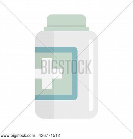 Capsule Jar Icon. Flat Illustration Of Capsule Jar Vector Icon Isolated On White Background
