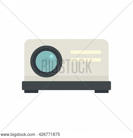 Projector Icon. Flat Illustration Of Projector Vector Icon Isolated On White Background
