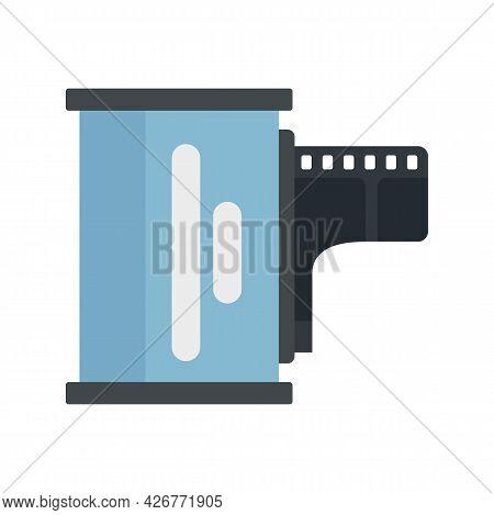 Camera Film Icon. Flat Illustration Of Camera Film Vector Icon Isolated On White Background
