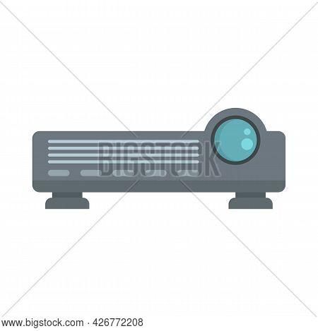 Flat Film Projector Icon. Flat Illustration Of Flat Film Projector Vector Icon Isolated On White Bac