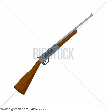 Rifle Icon. Flat Illustration Of Rifle Vector Icon Isolated On White Background