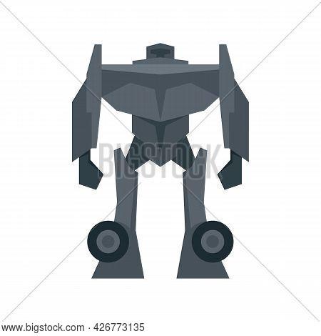 Soldier Robot Transformer Icon. Flat Illustration Of Soldier Robot Transformer Vector Icon Isolated