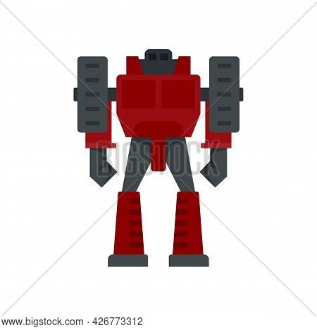 Computer Robot Transformer Icon. Flat Illustration Of Computer Robot Transformer Vector Icon Isolate