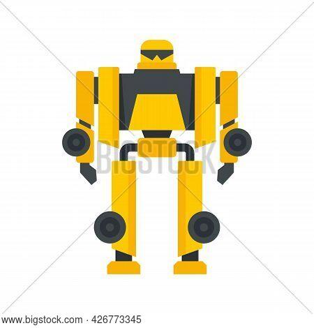Cinema Robot Transformer Icon. Flat Illustration Of Cinema Robot Transformer Vector Icon Isolated On