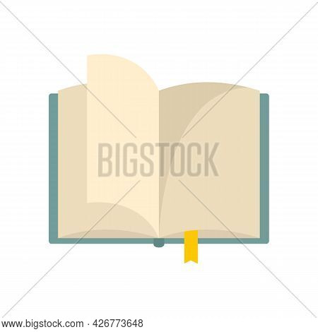 Open Book Icon. Flat Illustration Of Open Book Vector Icon Isolated On White Background