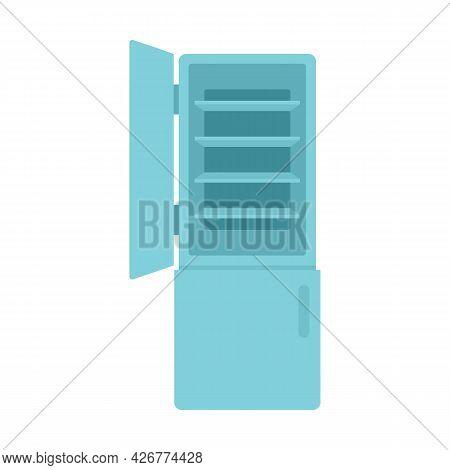 House Fridge Icon. Flat Illustration Of House Fridge Vector Icon Isolated On White Background
