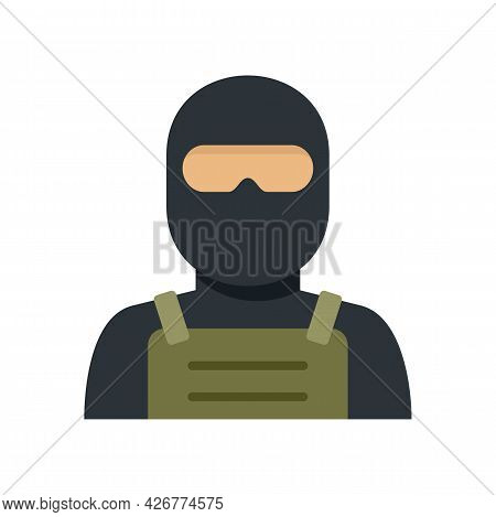 Police Special Forces Icon. Flat Illustration Of Police Special Forces Vector Icon Isolated On White