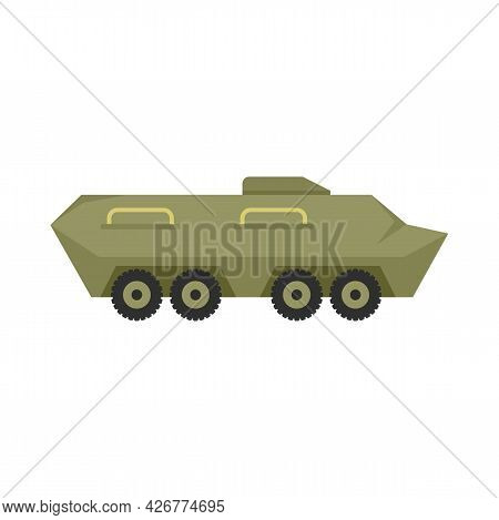 Military Tank Icon. Flat Illustration Of Military Tank Vector Icon Isolated On White Background