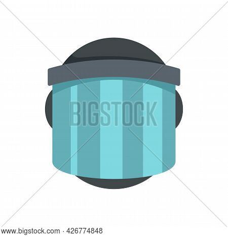 Police Helmet Icon. Flat Illustration Of Police Helmet Vector Icon Isolated On White Background