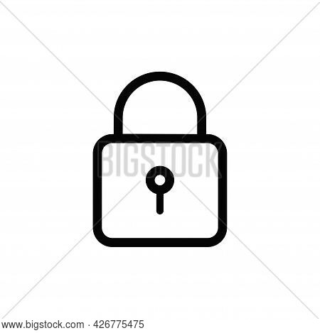 Padlock Icon Isolated On White Background. Padlock Icon In Trendy Design Style For Web Site And Mobi