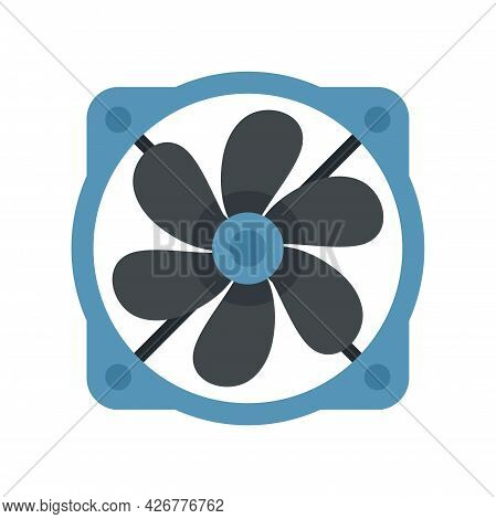 Computer Fan Icon. Flat Illustration Of Computer Fan Vector Icon Isolated On White Background
