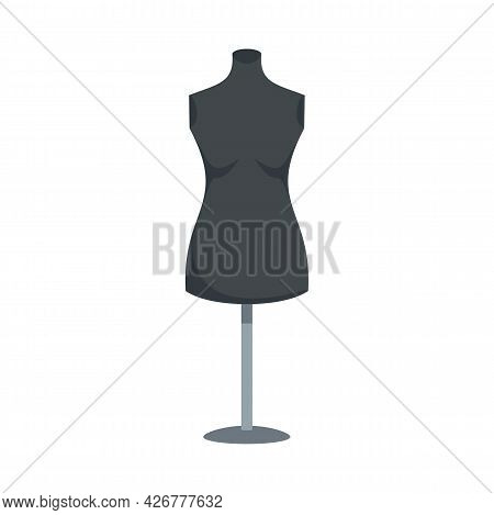 Empty Mannequin Icon. Flat Illustration Of Empty Mannequin Vector Icon Isolated On White Background