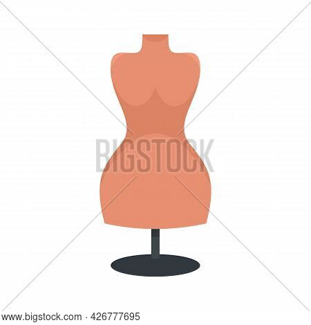 Body Mannequin Icon. Flat Illustration Of Body Mannequin Vector Icon Isolated On White Background
