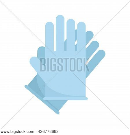 Hair Dye Gloves Icon. Flat Illustration Of Hair Dye Gloves Vector Icon Isolated On White Background