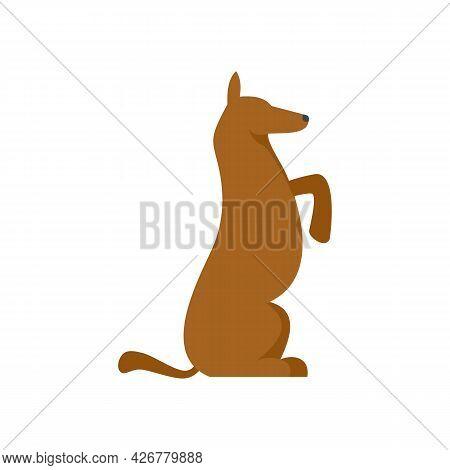 Dog Training Icon. Flat Illustration Of Dog Training Vector Icon Isolated On White Background