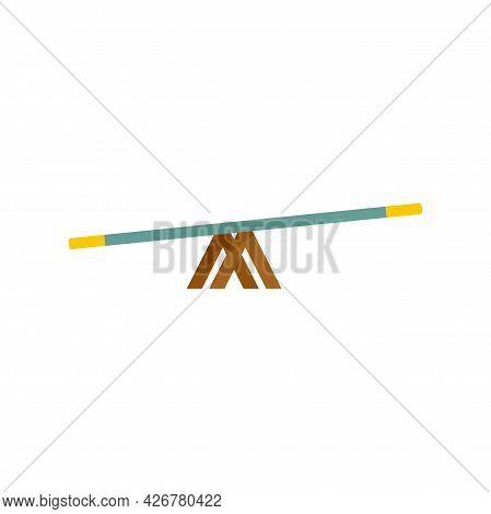 Dog Balance Bar Icon. Flat Illustration Of Dog Balance Bar Vector Icon Isolated On White Background