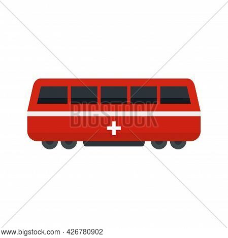 Swiss Train Icon. Flat Illustration Of Swiss Train Vector Icon Isolated On White Background