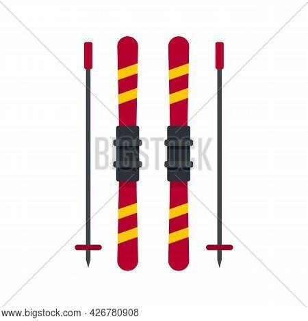 Ski Equipment Icon. Flat Illustration Of Ski Equipment Vector Icon Isolated On White Background