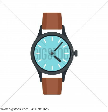 Swiss Hand Watch Icon. Flat Illustration Of Swiss Hand Watch Vector Icon Isolated On White Backgroun