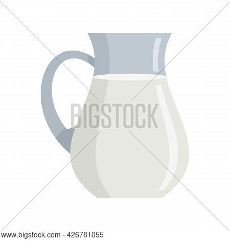 Swiss Milk Jug Icon. Flat Illustration Of Swiss Milk Jug Vector Icon Isolated On White Background