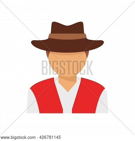 Swiss Man Icon. Flat Illustration Of Swiss Man Vector Icon Isolated On White Background