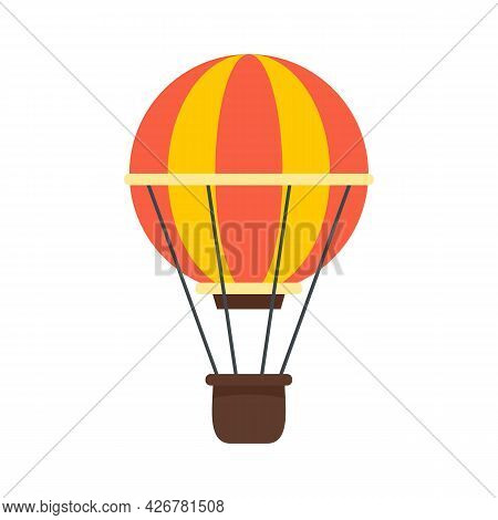 Sky Air Balloon Icon. Flat Illustration Of Sky Air Balloon Vector Icon Isolated On White Background