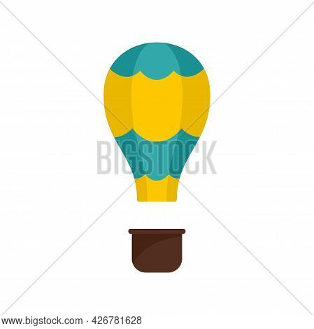 Outdoor Air Balloon Icon. Flat Illustration Of Outdoor Air Balloon Vector Icon Isolated On White Bac