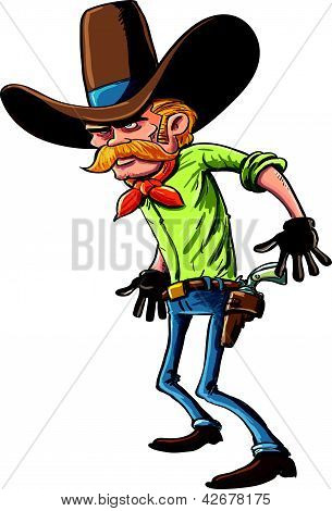 Vaquero listo para dibujar