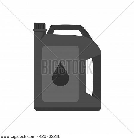 Motor Oil Icon. Flat Illustration Of Motor Oil Vector Icon Isolated On White Background