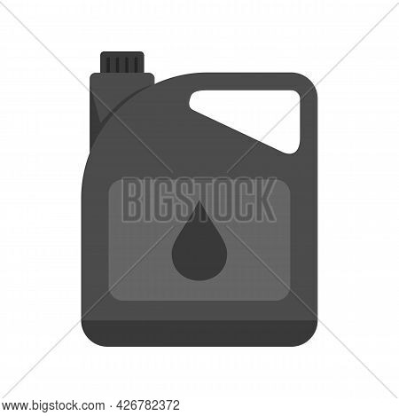 Motor Oil Canister Icon. Flat Illustration Of Motor Oil Canister Vector Icon Isolated On White Backg