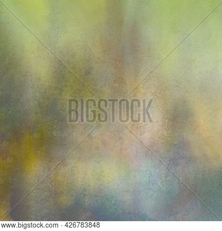 Strongly Textured Green And Blue Multi Colored Background.