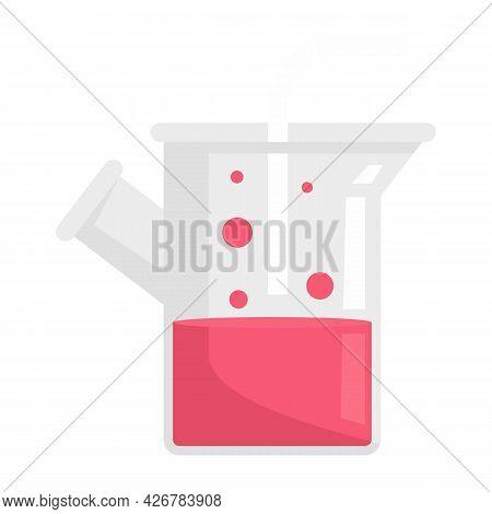 Medical Boiling Flask Icon. Flat Illustration Of Medical Boiling Flask Vector Icon Isolated On White