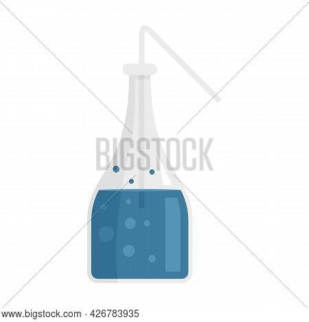 Boiling Lab Bottle Icon. Flat Illustration Of Boiling Lab Bottle Vector Icon Isolated On White Backg