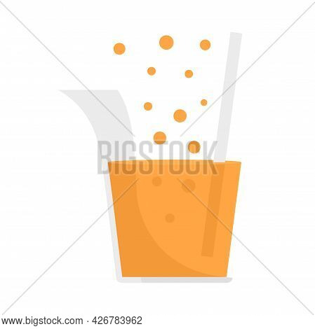 Boiling Chemical Pot Icon. Flat Illustration Of Boiling Chemical Pot Vector Icon Isolated On White B