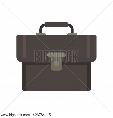 Leather Bag Icon. Flat Illustration Of Leather Bag Vector Icon Isolated On White Background