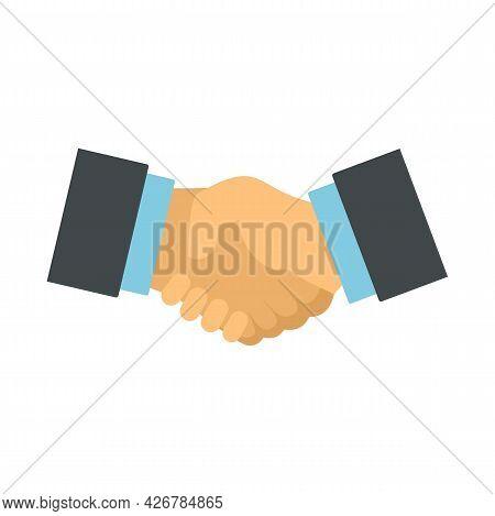 Handshake Icon. Flat Illustration Of Handshake Vector Icon Isolated On White Background