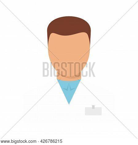 Man Pharmacist Icon. Flat Illustration Of Man Pharmacist Vector Icon Isolated On White Background