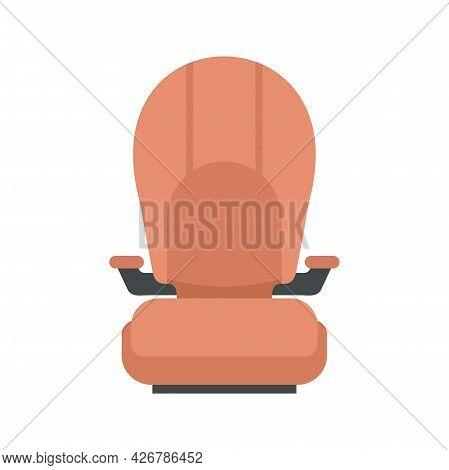 Isofix Kid Car Seat Icon. Flat Illustration Of Isofix Kid Car Seat Vector Icon Isolated On White Bac