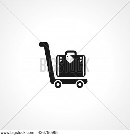 Luggage At The Airport Icon. Luggage At The Airport Isolated Simple Vector Icon